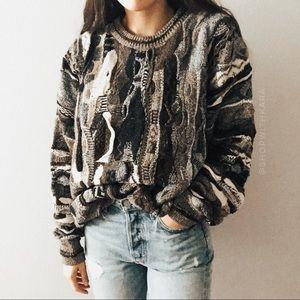 Vintage Coogi Style Knit Oversized Sweater L